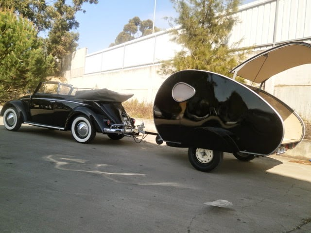 1959 convertible and trailer